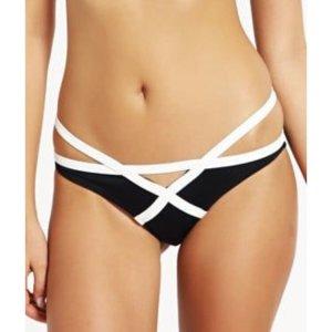 Bikini Set schwarz-weiß
