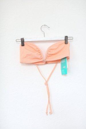 Bikini Top von H&M In Lachs Gr. 40 neu mit Etikett