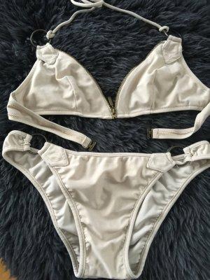 Bikini Velmare 34 mit Reißverschluss gold