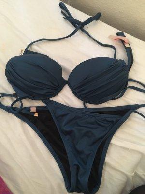 Victoria's Secret Bikini oro-blu acciaio