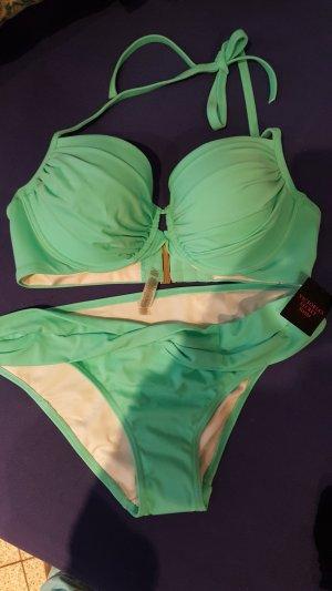Victoria's Secret Bikini vert menthe polyamide