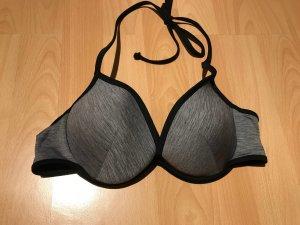 Bikinioberteil grau-schwarz