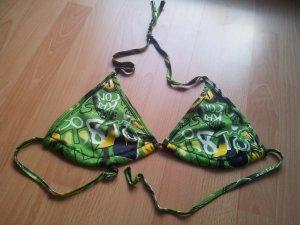 Bikinioberteil Uni One Size Dreieckbikini grün NEU