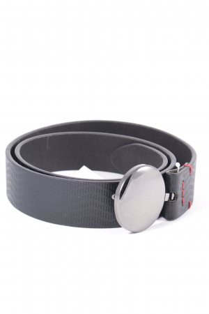 Bikkembergs Leather Belt black simple style