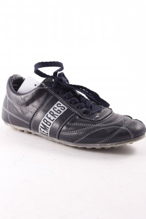 Bikkembergs Zapatos brogue azul oscuro-blanco look casual