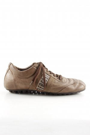 Bikkembergs Lace-Up Sneaker bronze-colored printed lettering simple style