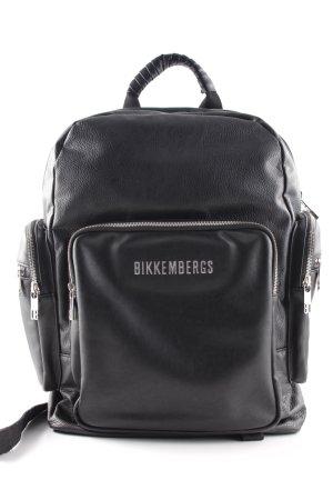 Bikkembergs Schulrucksack schwarz Biker-Look