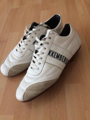 Bikkembergs Sneakers met veters wit-zwart
