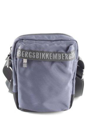 Bikkembergs Umhängetasche blau-schwarz Schriftzug gedruckt Casual-Look