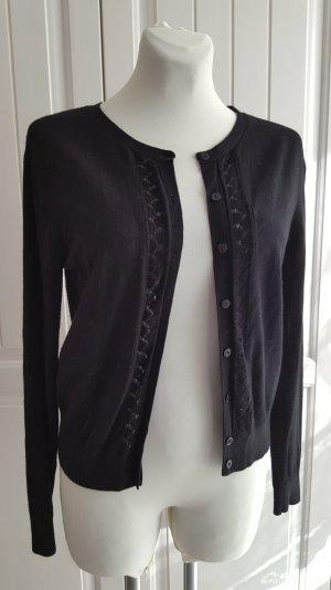Bildhübscher Ajour-Cardigan, schwarz, von NOA NOA, Gr. M/40