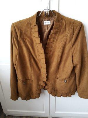Bildschöne Jacke in Velourlederoptik