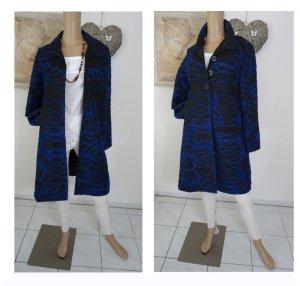 Desigual Abrigo corto negro-azul tejido mezclado