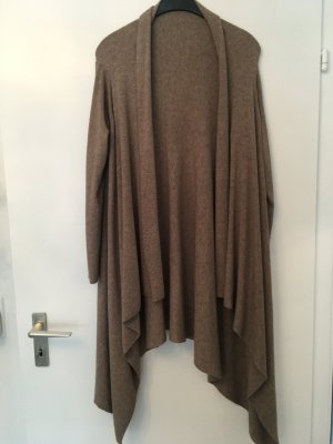 Knitted Coat light brown viscose