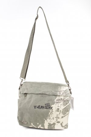 billa bong Shoulder Bag khaki themed print simple style