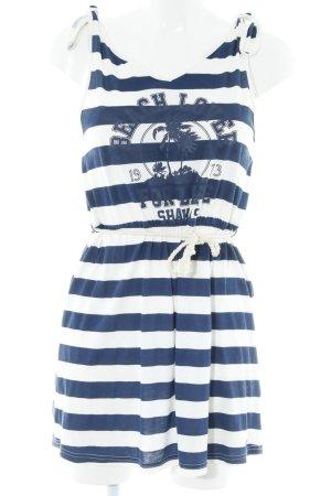billa bong Strandkleid weiß-dunkelblau Streifenmuster Beach-Look