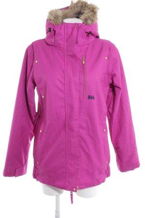 billa bong Winter Jacket violet herringbone pattern casual look