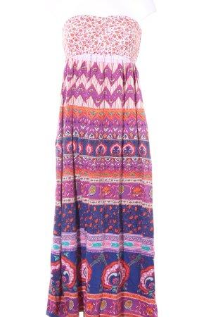 Billabong Vestido bustier Mezcla de patrones estilo hippie