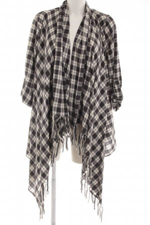 Billabong Cardigan schwarz-weiß Karomuster Casual-Look