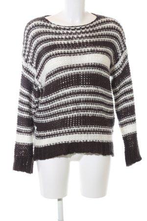 Billabong Grobstrickpullover schwarz-weiß Streifenmuster Casual-Look