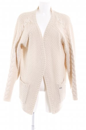 Billabong Häkel Cardigan creme Webmuster Casual-Look
