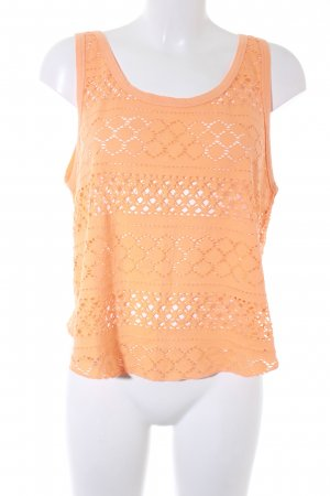Billabong Crochet Top light orange loosely knitted pattern casual look