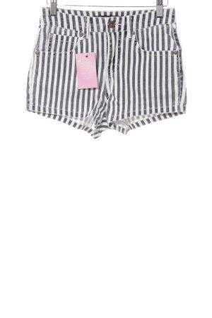 Billabong High-Waist-Shorts dunkelgrau-weiß Streifenmuster Casual-Look
