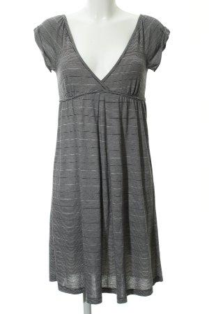Billabong Jerseykleid schwarz-weiß Streifenmuster Casual-Look