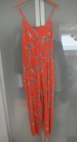 Billabong Jumpsuit Orange Blumen Gr. XL