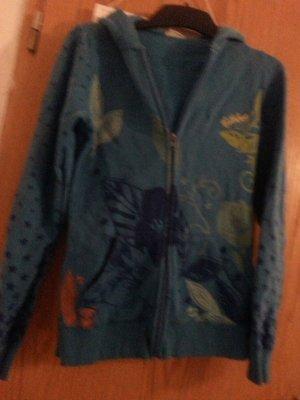 Billabong Chaqueta de tela de sudadera azul neón