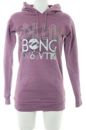 Billabong Sudadera con capucha lila letras impresas look casual