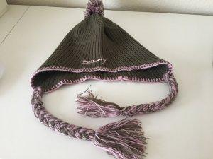 Billabong Chapeau en tricot rose-vert olive