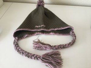 Billabong Knitted Hat pink-olive green