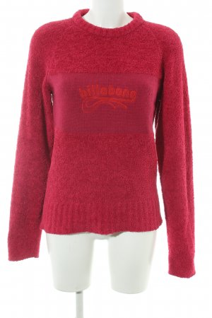 Billabong Rundhalspullover magenta Casual-Look