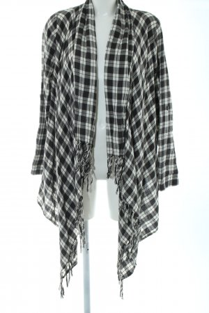 Billabong Knitted Cardigan black-white check pattern casual look