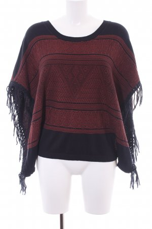 Billabong Strickponcho rostrot-dunkelblau Mustermix Casual-Look
