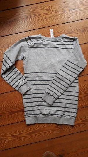 Billabong Sweatshirt, grau-blau gestreift, Größe S
