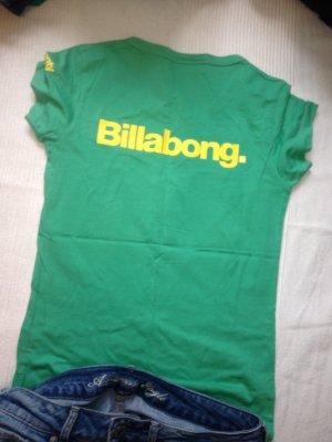 Billabong t-shirt grün gelb Shirt Gr.36 S australia Top oberteil sweatshirt