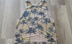 Billabong Top Tank Tanktop Loose fit Tropical Palmen Crop Cropped Croptop