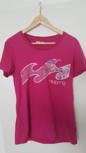 Billabong Tshirt pink/waves/surfer