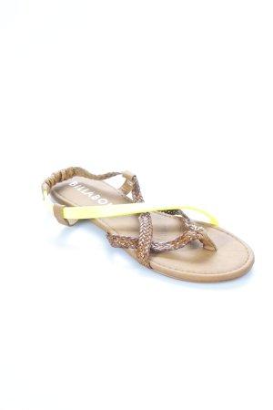 Billabong Zehentrenner-Sandalen hellbraun-gelb klassischer Stil