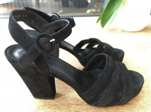 Billi Bi Plateauzool sandalen zwart Suede
