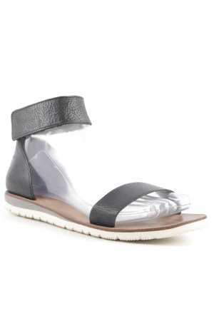Billi Bi Sandalen met bandjes zwart-lichtbruin minimalistische stijl