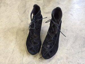 Billi Bi Wedge Sandals black leather
