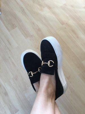 Billi Bi Lage schoenen zwart-wit