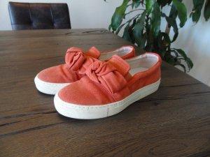 Billi Bi Slip-on Sneakers salmon suede