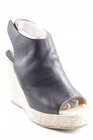 Billi Bi Wedge Sandals black-camel street-fashion look