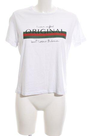 biluca Print-Shirt Schriftzug gedruckt Casual-Look