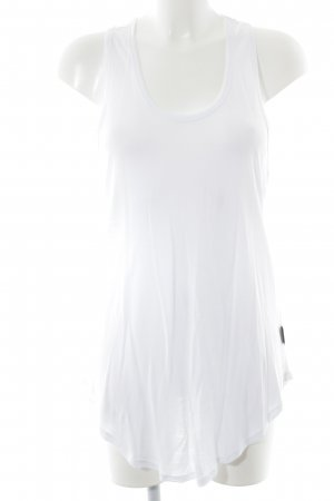 biluca Tanktop weiß-schwarz schlichter Stil