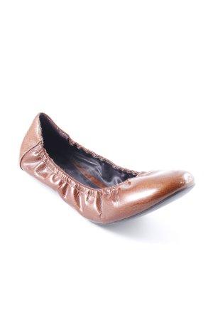 Bimba & Lola faltbare Ballerinas bronzefarben Lack-Optik