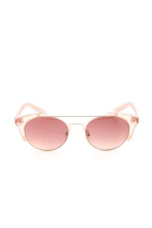 Bimba & Lola Gafas de sol redondas crema-rosa look casual